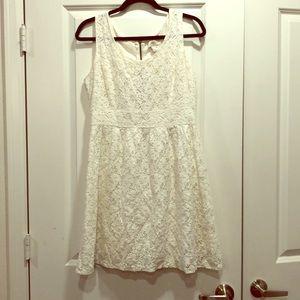 Ann Taylor LOFT white lace dress size 6